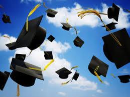 graduation cap in the air image photo
