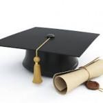 graduation cap and diploma image photo
