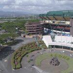 Exterior aerial photo of Aloha Stadium