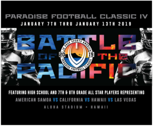 Jr prep battle of the pacific football logo
