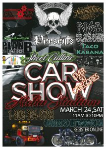street cultural car show flyer and information