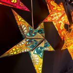 Star decorative lamps on display
