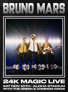 bruno mars 24k concert announcement poster