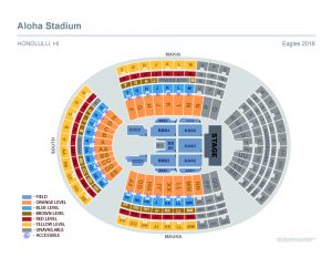Eagles concert stage map layout