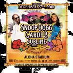 snoop dog cardi b sublime w/rome dec 27 concert flyer