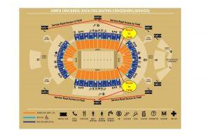 aloha stadium field access map