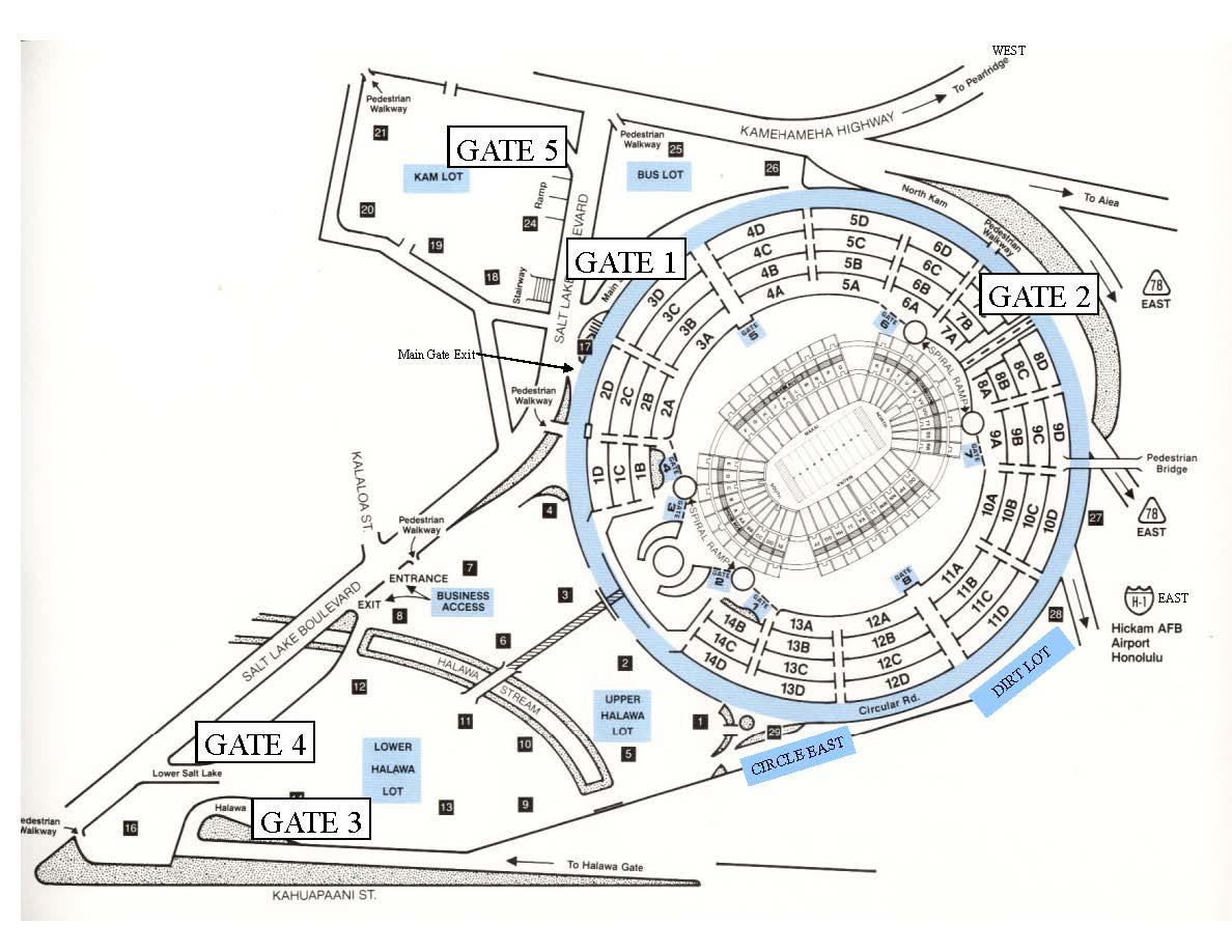 Aloha Stadium | Aloha Stadium Parking Map and Rates