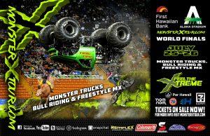 monster truck event poster