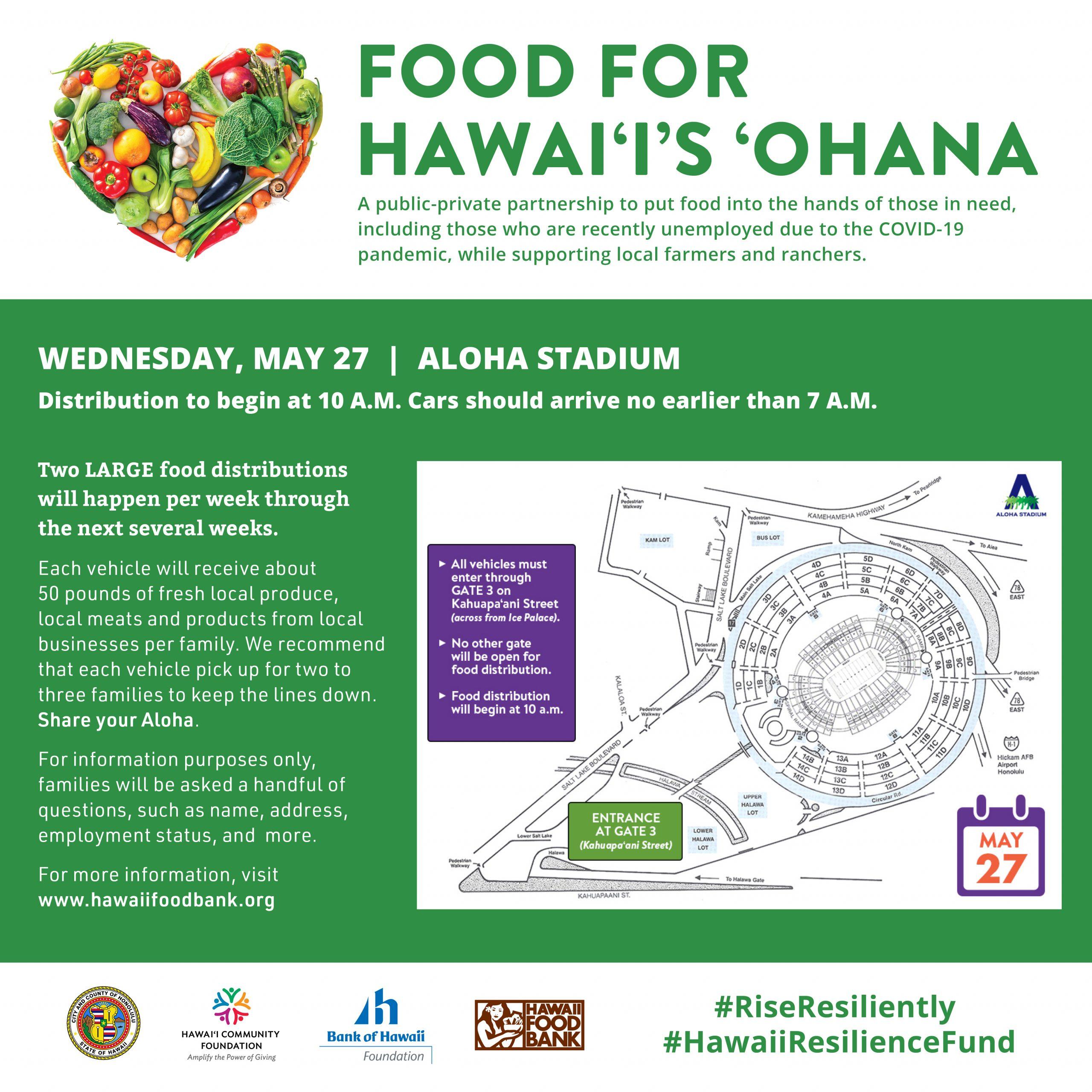 May 27 food bank distribution flyer