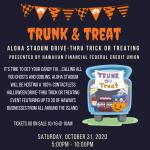 Trunk & Treat Halloween event poster