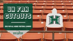 uh fan cut out stand photo